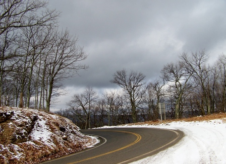 Potts Mountain on Rt. 311 in early winter