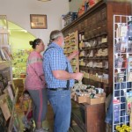 Phil helps a customer pick out flower, herb or vegetable seeds -- they're all there!